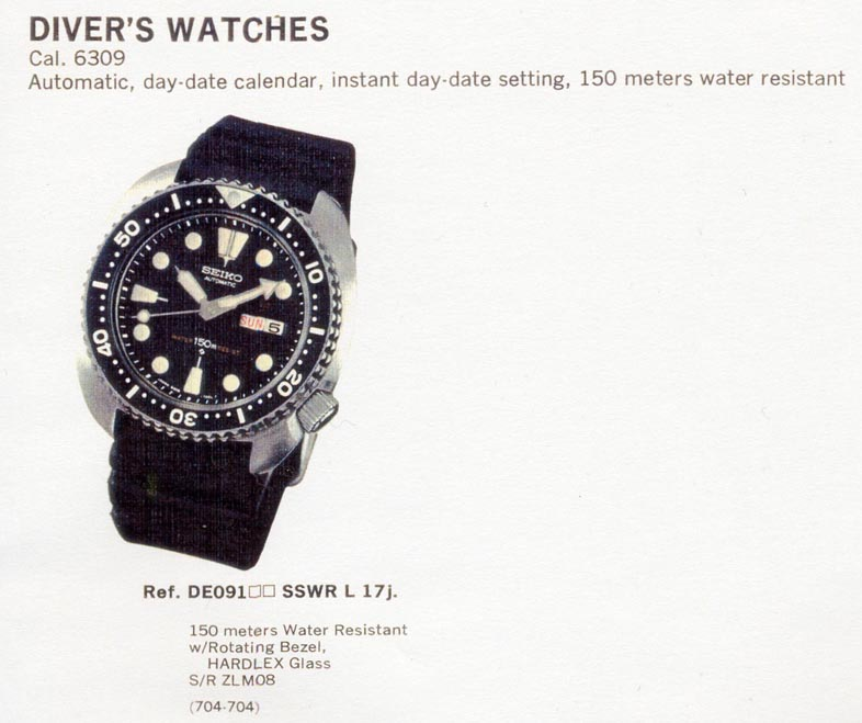 Seiko Divers Reference